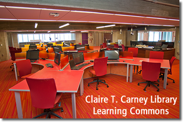 Long Room View of the Learning Commons Just Days Before it Opens Officially