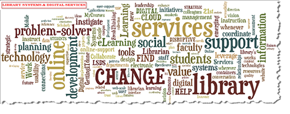 Library Systems & Digital Services Mission Tag Cloud