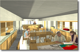 Library Archives Architects Drawing of Reading Room
