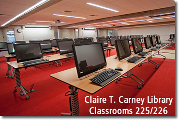 Library Classrooms 225 and 226, 2nd floor