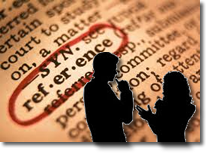 Reference defined with Librarian and Student Silhouettes in front
