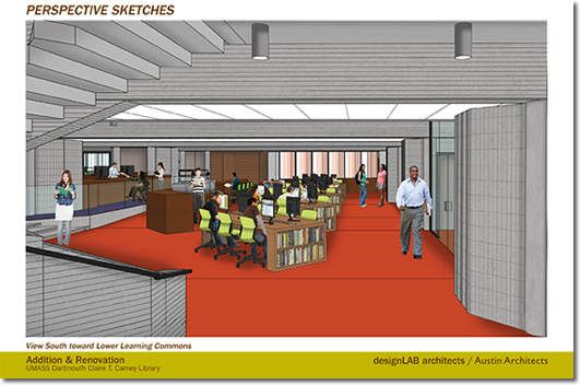 Library Renovation Sketch - Library South Side