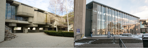Library Extenstion From Southwest Angle - Old and New