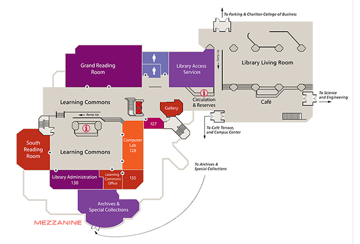 Library Floor Maps & Find Here | Claire T. Carney Library - UMass ...