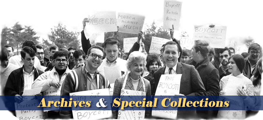 Archives & Special Collections and Image of 70's Student Food Protest