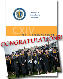 Image of UMassD Commencement Program 2014, Students Celebrating & Congratulations!