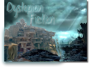 Dystopian Book Club Graphic - Library Picture Revisited in Dystopian Background. :-)