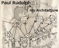 Overview Drawing of Campus for Paul Rudolph Project