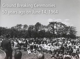 Crowd Watching speech at University Ground Breaking Ceremonies 14,1964