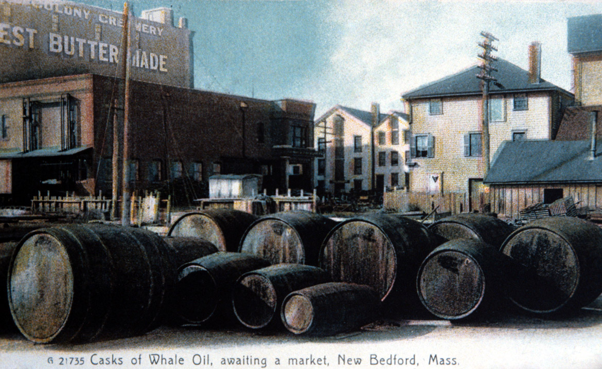 Early postcard of the waterfront area during whaling days