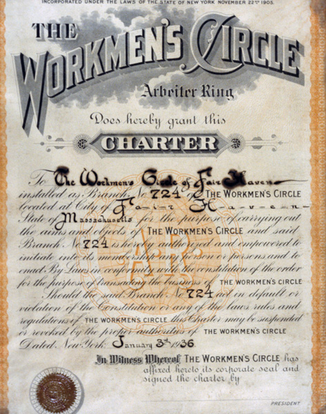 Workmans circle charter