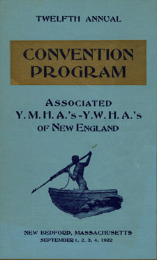 Program cover for the New England YMHA and YWHA convention held in New Bedford in 1922