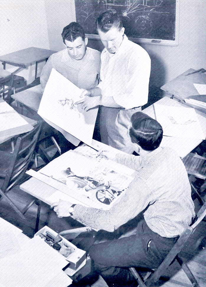 Students in Commercial Art, c.1956