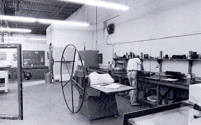 Interior of the Elm street building, showing the printmaking studio