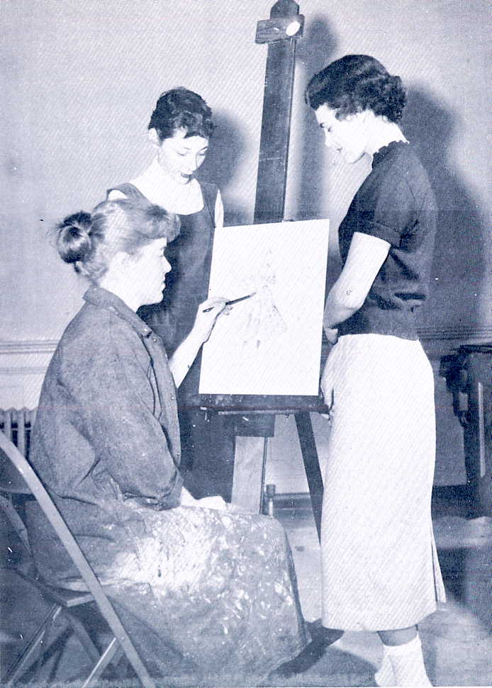 Students in Fashion Illustartion, c.1956