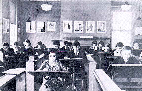 Saturday morning children's class, c.1932