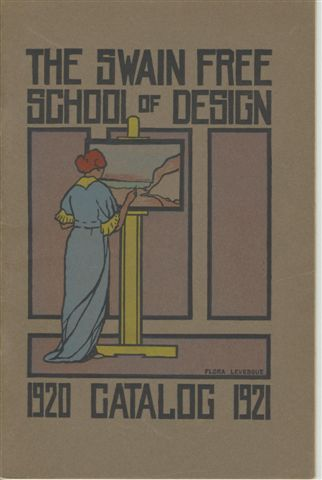 Image of the 1920-1921 catalogue cover which was student art work