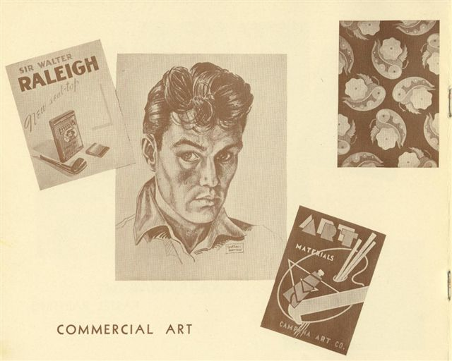 Student work in Commercial Art used in a catalog