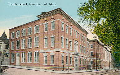 Postcard picture of the New Bedford Institute of Technology