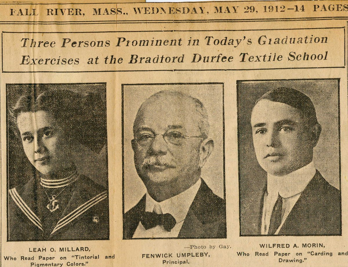 Fall River Herald news clipping, 1912